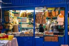 圣佩德罗火山市场/库斯科/秘鲁/07-14-2017 库存图片