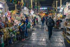 圣佩德罗火山市场/库斯科/秘鲁/07-14-2017 库存照片
