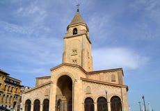 圣佩德罗火山教会在Gijon,西班牙 免版税库存照片