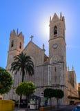 圣佩德罗火山的教会贝尼萨 库存图片