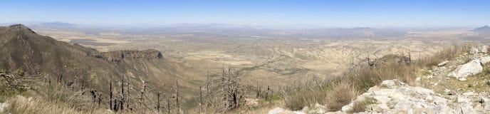 圣佩德罗火山谷,亚利桑那的空中全景,从米勒 免版税库存照片