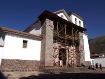 圣佩德罗火山Apostol de Andahuaylillas教会  免版税库存照片