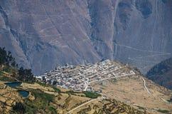 圣佩德罗火山de卡斯塔-秘鲁 免版税库存图片