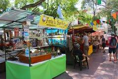 圣佩德罗火山Telmo公平在布宜诺斯艾利斯,阿根廷 免版税库存照片