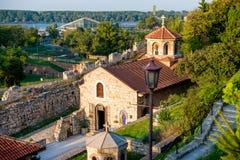 圣佩特卡教会在Kalemegdan堡垒的 贝尔格莱德塞尔维亚 库存照片