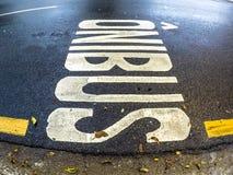圣保罗公车专道的标志  库存照片