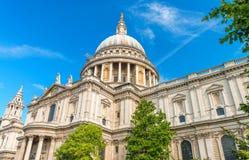 圣保罗大教堂圆顶,伦敦 库存照片