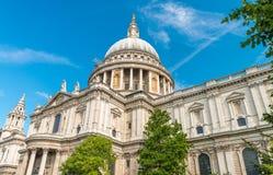 圣保罗大教堂圆顶,伦敦 库存图片