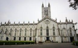 圣保罗大教堂在加尔各答,印度 免版税库存照片