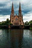 圣保罗大教堂在史特拉斯堡,法国 免版税库存图片