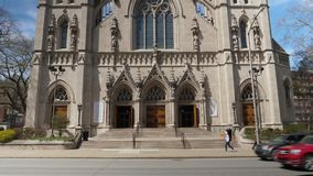 圣保罗大教堂天外部建立的射击  影视素材