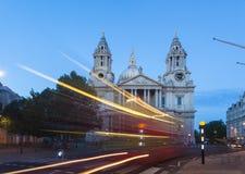 圣保罗大教堂,伦敦,英国 库存图片
