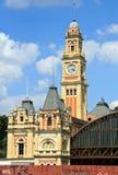 圣保罗州火车站 免版税库存图片