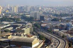 圣保罗市,巴西都市风景  免版税库存照片