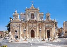 圣保罗牧师会主持的教堂在拉巴特,马耳他 免版税库存图片