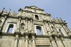圣保罗的大教堂废墟  库存图片