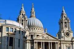 圣保罗的大教堂教会,伦敦,英国 库存照片