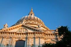 圣保罗的大教堂,伦敦。 库存照片