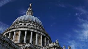 圣保罗的大教堂,伦敦圆顶  股票录像