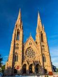 圣保罗的教会在史特拉斯堡-法国 免版税库存照片