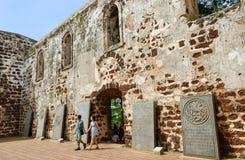 圣保罗的教会在马六甲 库存图片