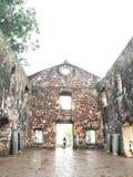 圣保罗的教会在Melaka马来西亚 免版税库存照片