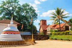 圣保罗的教会门面在康提,斯里兰卡 图库摄影