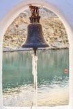 圣保罗的海湾、教会和Agean海 免版税库存图片