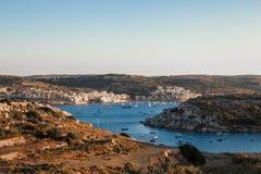 圣保罗的海湾全景 免版税图库摄影