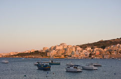 圣保罗的海湾,马耳他 免版税库存图片