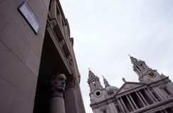 圣保罗的Catherdral,伦敦 免版税库存照片