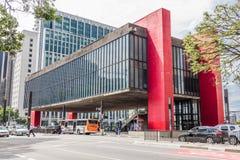 圣保罗美术馆保利斯塔大道的 免版税库存照片