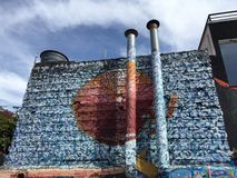 圣保罗街道画 库存图片