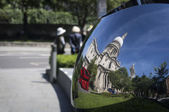 圣保罗被反射的` s大教堂 图库摄影