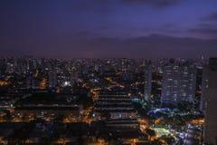 圣保罗长的曝光,最大的市巴西 免版税库存照片