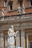 圣保罗雕象在梵蒂冈 图库摄影