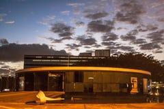 圣保罗,巴西,2011年5月03日 拉美纪念品是文化中心挺好,政治,并且休闲,在3月18日打开了, 图库摄影