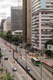圣保罗,巴西- 2017年11月, 26 在保利斯塔Avenu的星期天 免版税库存图片