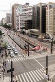 圣保罗,巴西- 2017年11月, 26 在保利斯塔Avenu的星期天 免版税库存照片