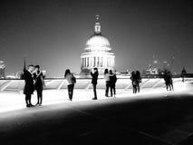 圣保罗黑白照片 免版税库存图片