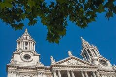 圣保罗` s大教堂,伦敦,英国 库存图片