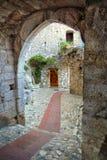 圣保罗de Vence小山顶村庄 免版税图库摄影
