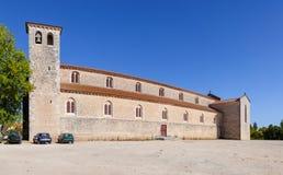 圣克拉拉教会 13世纪行乞的哥特式建筑 免版税图库摄影
