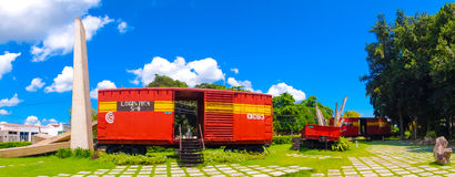 圣克拉拉,古巴- 2015年9月08日:这列火车 免版税库存照片