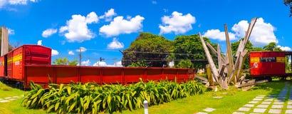 圣克拉拉,古巴- 2015年9月08日:这列火车 库存照片