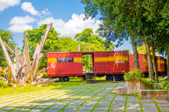 圣克拉拉,古巴- 2015年9月08日:这列火车 图库摄影