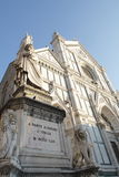 圣克罗斯教会在佛罗伦萨 库存图片