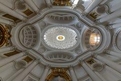 圣克罗alle Quattro Fontane -罗马,意大利教会  免版税库存照片