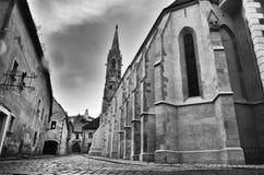 圣克莱尔,布拉索夫,斯洛伐克等级的教会  免版税图库摄影