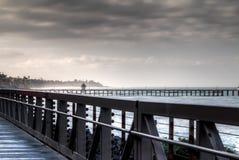 圣克莱芒特赛跑足迹 免版税图库摄影